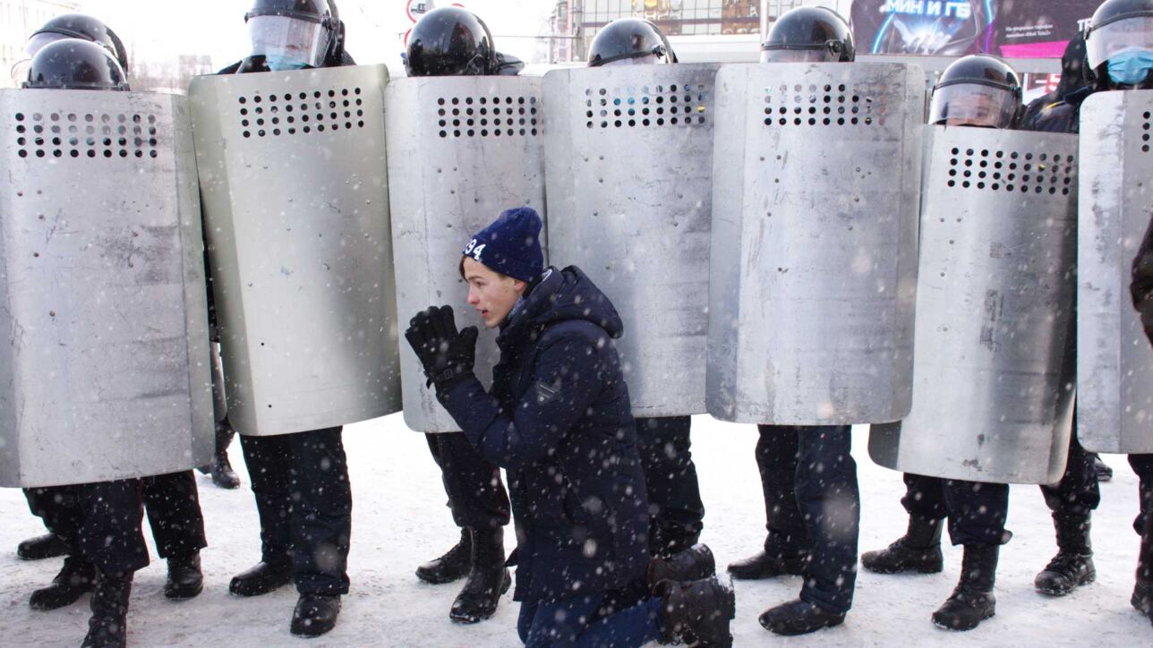 Protests in Russia, January 23, 2021.